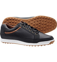 Men's Contour Casuals Spikeless Closeout Golf Shoes - Black (FJ#54284)