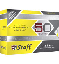 Personalized Fifty Elite Yellow Golf Balls