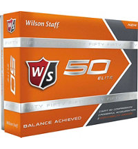 Fifty Elite Golf Balls (Orange)