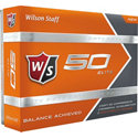 Wilson Staff Fifty Elite Golf Balls (Orange)