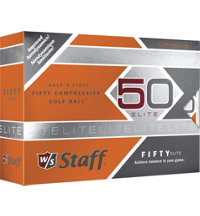 Personalized Fifty Elite Orange Golf Balls