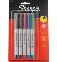 Sharpie Ultra Fine Point Marker 5/cd