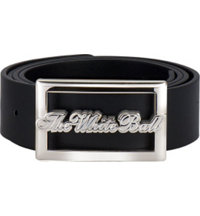 Crystal 40mm Belt with White Gold Buckle