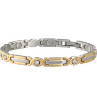 Sabona Lady Executive Two-Tone Gem Magnetic Bracelet