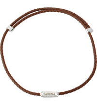 Sabona Leather Magnetic Necklace-Brown