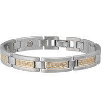 Men's Greek Key Duet Magnetic Bracelet