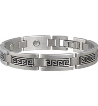 Men's Greek Key Stainless Magnetic Bracelet