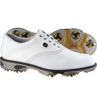 Men's Closeout DryJoys Tour Golf Shoes - FJ#53607 (White/White)
