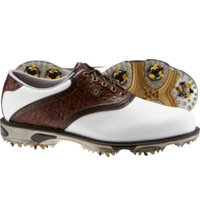 Men's DryJoy Tour Golf Shoes - FJ#53612 (White/Brown)