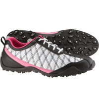 Women's Closeout Summer Series Golf Shoes - FJ#98968 (Black/White/Pink)