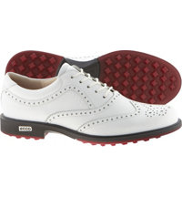 Men's Tour Hybrid Golf Shoes - White/Brick