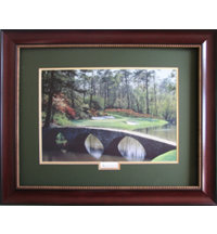 Framed Art - Augusta National 12th Hole with Mahogany Frame (34