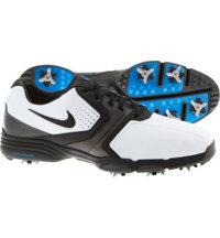 Men's Closeout Lunar Saddle Golf Shoes - White/Metallic Dark Gray/Photo Blue/Black