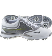 Women's Closeout Lunar Links III Golf Shoes - White/Wolf Gray/Metallic Cool Gray