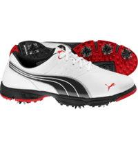 Men's AMP Sport Golf Shoes - White/Black/Red