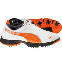 Men's AMP Sport Golf Shoes - White/Orange