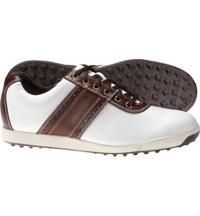Men's Closeout Contour Casuals Golf Shoes - FJ#54077 (White/Brown)