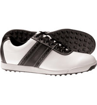Men's Closeout Contour Casuals Golf Shoes - White/Black (FJ# 54086)