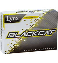 Black Cat Yellow Golf Balls