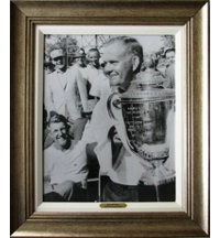 Framed Art - Jack Nicklaus 1963 PGA with Antique Silver Frame (27