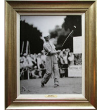 Framed Art - Byron Nelson 1945 Chicago Open with Antique Silver Frame (27