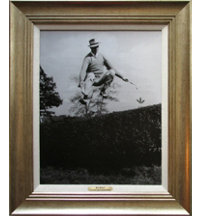Framed Art - Sam Snead 1937 Met Open with Antique Silver Frame (27