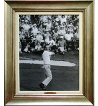 Framed Art - Arnold Palmer 1960 Masters with Antique Silver Frame (27