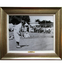 Framed Art - Bobby Jones 1927 US Amateur with Antique Silver Frame (27