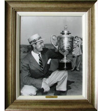 Framed Art - Sam Snead 1951 PGA with Antique Silver Frame (27