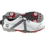 Men's M:Project BOA Spiked Golf Shoes - White/Charcoal