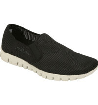 Men's Wino Mesh Slip-On Loafers (Black)