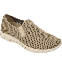 Men's Wino Mesh Slip-On Loafers (Taupe)