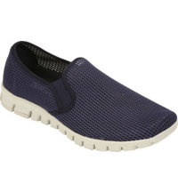 Men's Wino Mesh Slip-On Loafers (Navy)