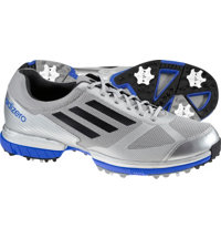 Men's adizero Sport Golf Shoes - Metallic Silver/Black/Prime Blue