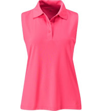 Women's Sleeveless Pique Polo