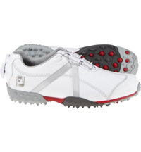 Women's Closeout M:Project BOA Spikeless Golf Shoes - White/Silver (FJ# 95634)