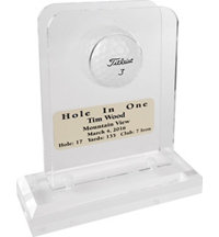 Personalized Acrylic Hole In One Desktop Display