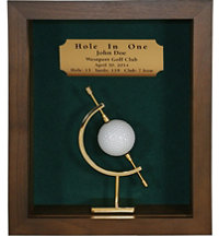 Personalized Hole In One shadow Box with Caliper