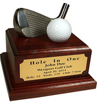 Personalized Hole In One Desktop with Iron