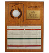 Personalized Scorecard & Ball Hole In One Plaque