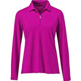 Women's Long Sleeve Quarter-Zip Polo