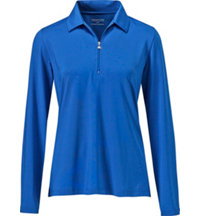 Women's Long Sleeve 1/4 Zip Polo