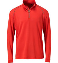 Men's Players Long Sleeve Quarter Zip Piped Mock