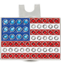 USA Flag Ball Marker with Cap Clip