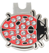 Lady Bug Ball Marker with Cap Clip