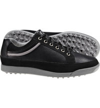 Men's Closeout Contour Casuals Series Spikeless Golf Shoes - Black/Silver (FJ#54356)