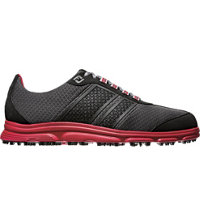 Men's Closeout SuperLites CT Spikeless Golf Shoes - Black/Red