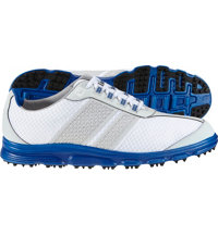 Men's Closeout SuperLites CT Spikeless Golf Shoes - White/Light Gray/Blue (FJ#58135)