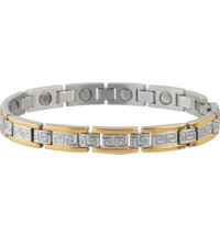 Women's Greek Key Duet Magnetic Bracelet