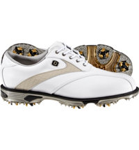Men's Closeout DryJoys Tour Golf Shoes - White/Beige Lizard (FJ# 53581)